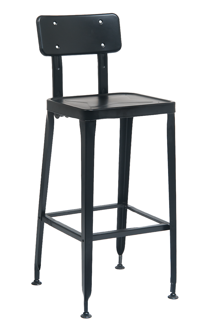 Black Finish Metal Barstool, ERF-127/B/C-BS