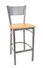 Perforated Back Metal Barstool, ERF-141-BS