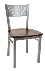 Perforated Back Metal Chair, ERF-141