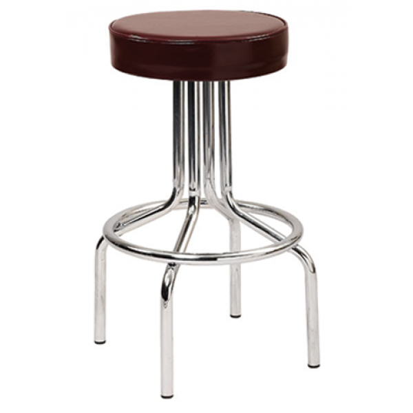 Classic Steel Swivel Stool w/ Footring