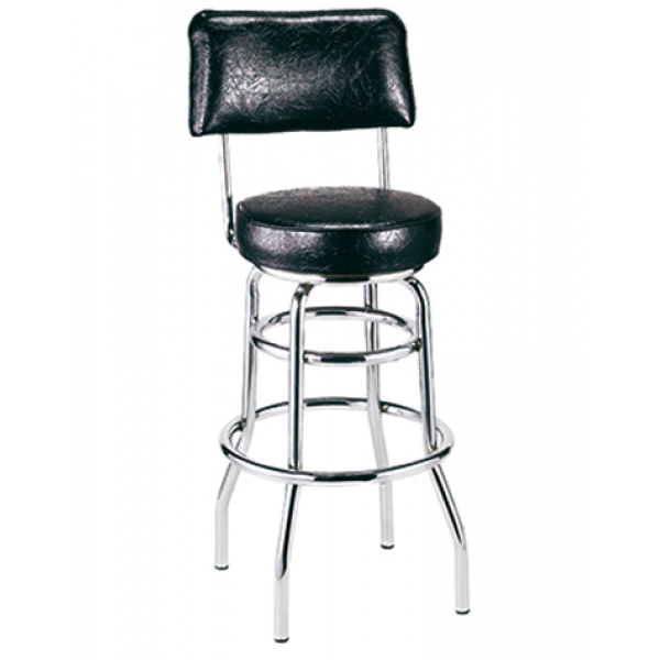 Swivel Steel Barstool w/ Double Footring, GA148