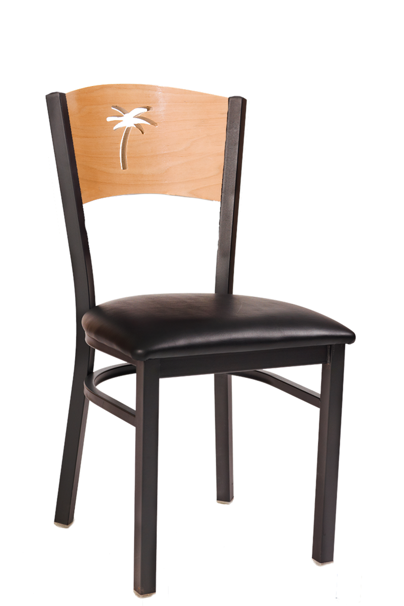 Palm Natural Back Metal Chair, ERF-166