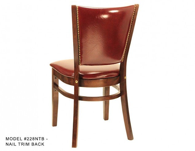 Heavy Duty Over Upholstered Panel Back Wooden Side Chair, MD228