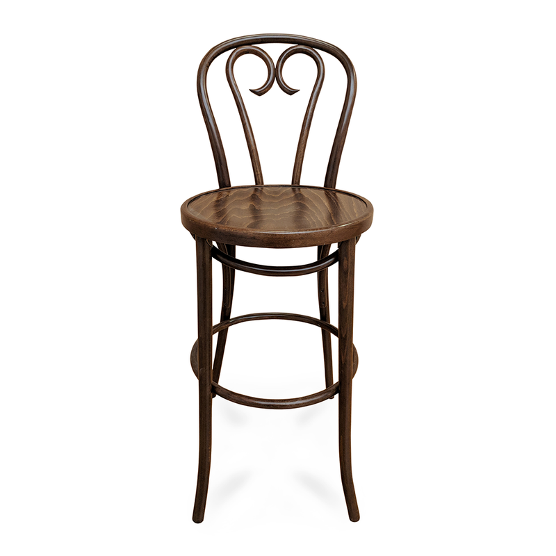 Curlicue Bentwood Barstool