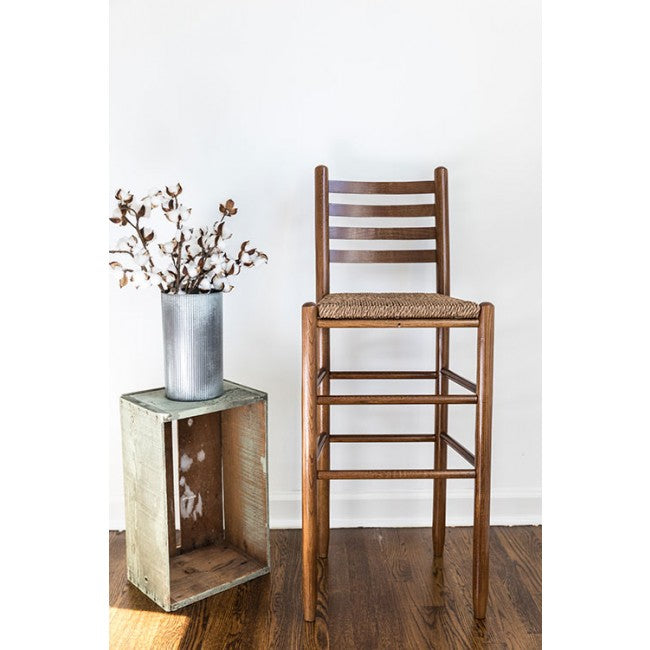 Carolina Barstool with Woven Seat