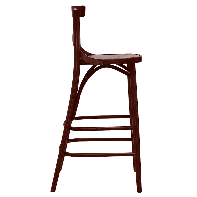 Bent Cross Back Bentwood Barstool