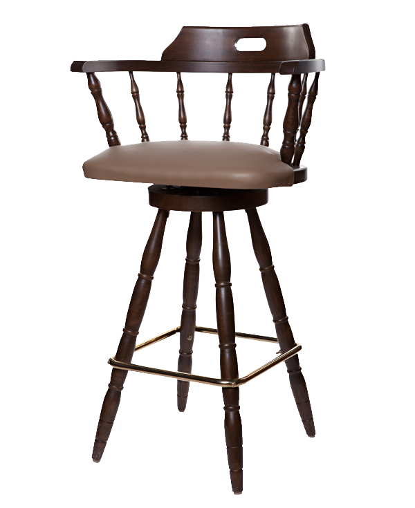 Early Colonial Era Style Upholstered Captains Barstool OD210US