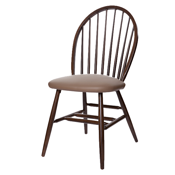 Early Colonial Style Windsor Side Chair With Upholstered Seat OD212US