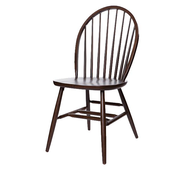 Early Colonial Style Windsor Side Chair - Wood Seat OD212