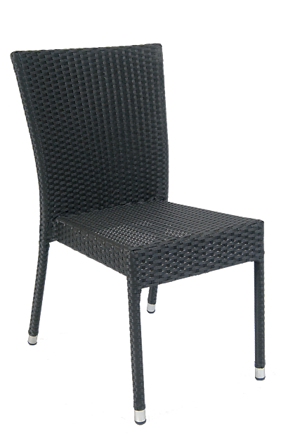 Aluminum/Synthetic Wicker Chair, ERF-22