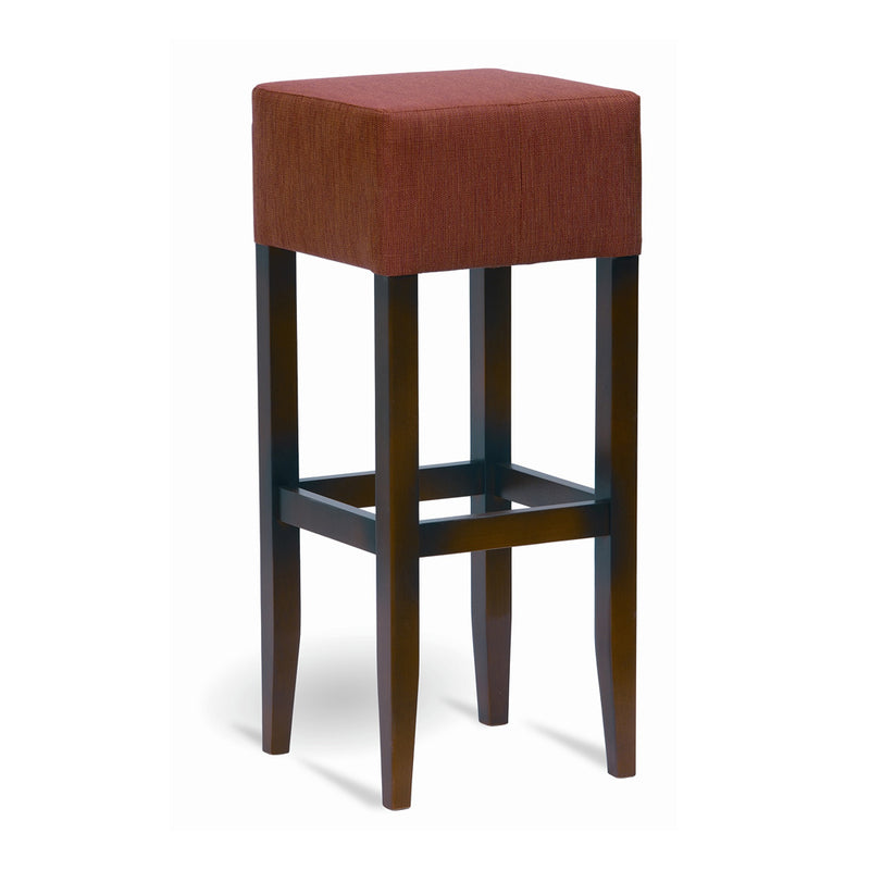 Square Wooden Backless Barstool