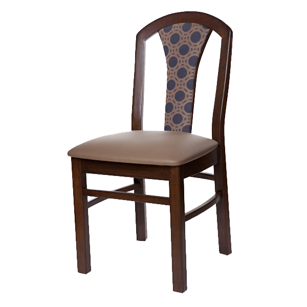 Classic Style Cabaret Side Chair With Upholstered Seat & Back OD222USB
