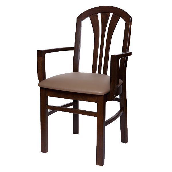 Classic Style Cabaret Arm Chair With Upholstered Seat OD224US