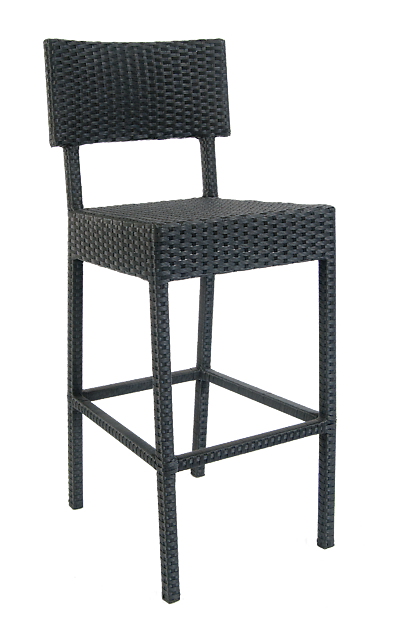 Aluminum/Synthetic Wicker Barstool, ERF-22-BS