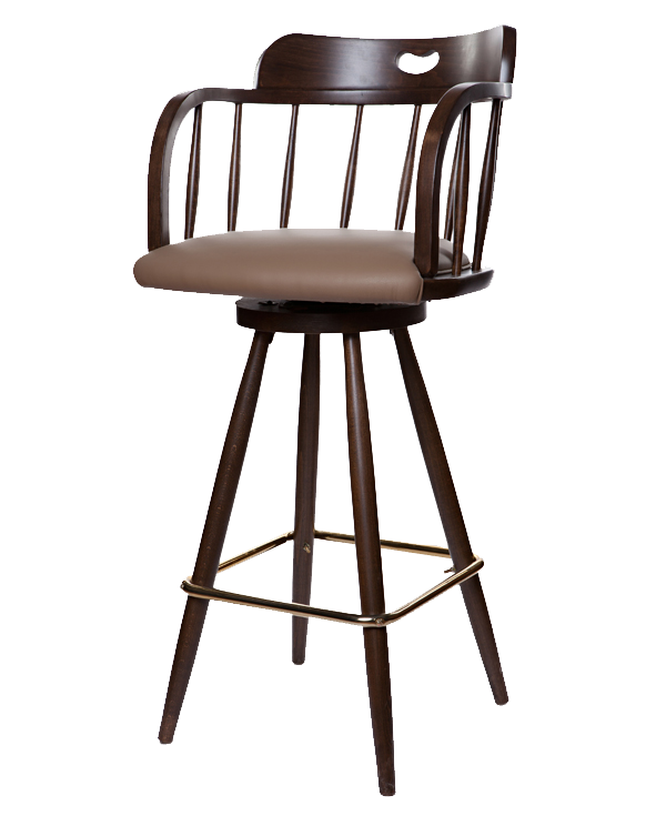 Mid-Century Style Saloon  Barstool With Upholstered Seat or Back/ Seat & Back OD236UB