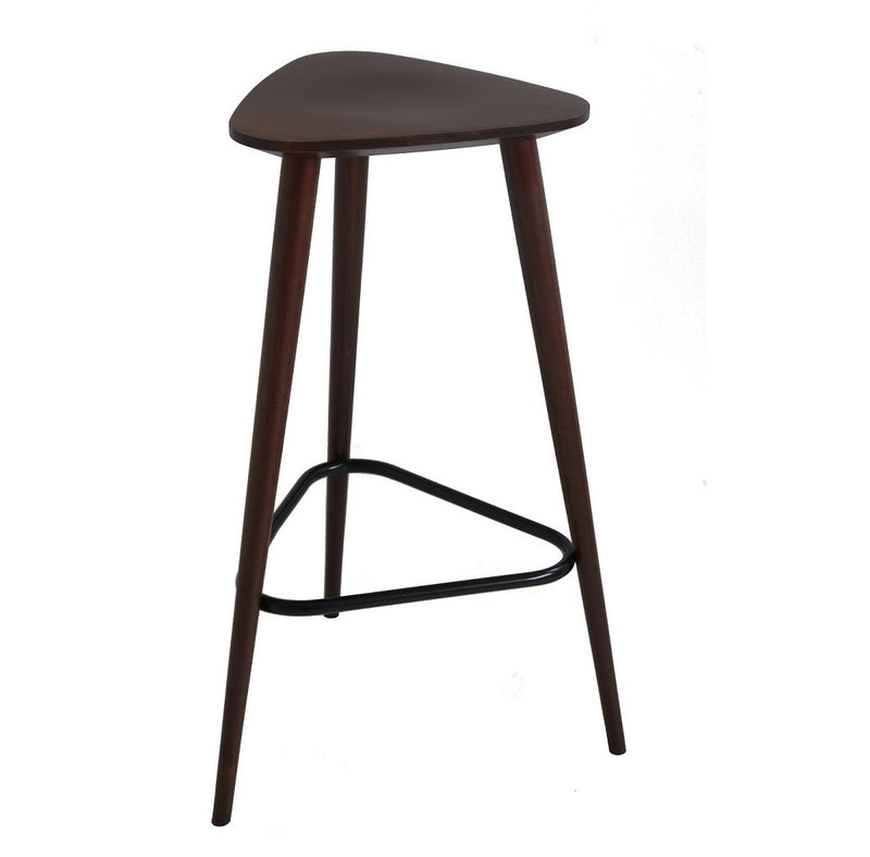Triangle Wooden Backless Barstool