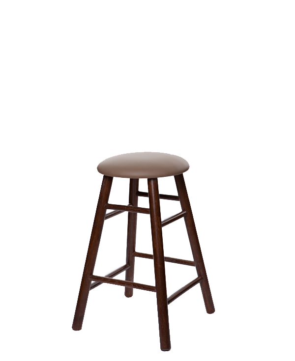 Modern Style Oak Tavern Barstool With Upholstered Seat OD2704US-24""