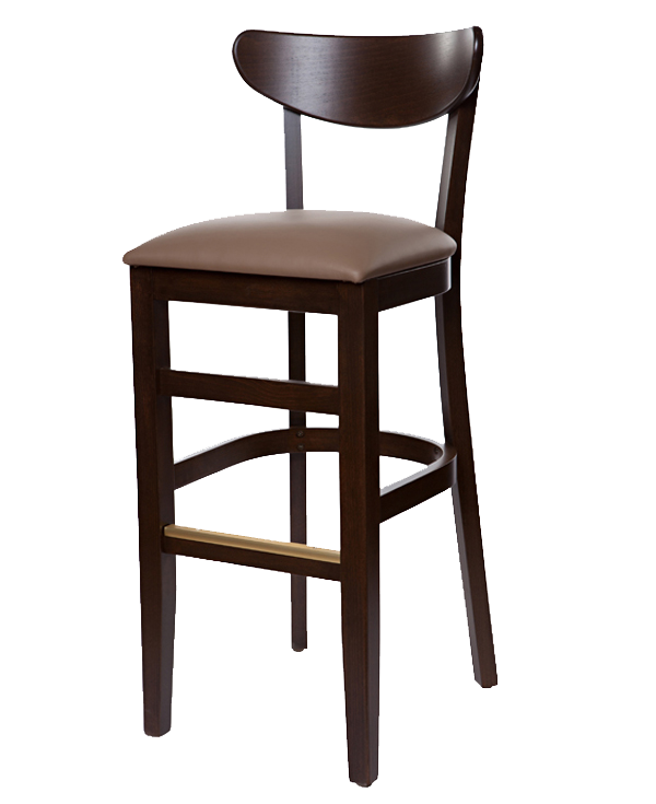 Modern Style Boomerang Barstool With Upholstered Seat OD276US