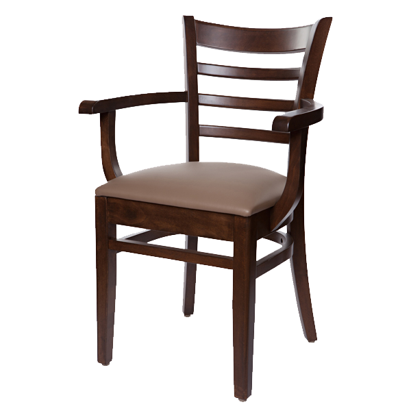 Classic Style Bistro Arm Chair With Upholstered Seat OD294US