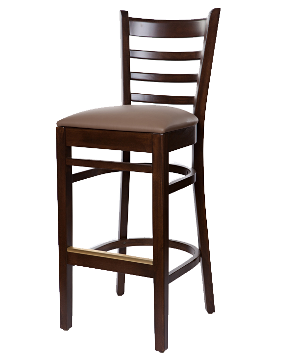 Classic Style Bistro Barstool With Upholstered Seat OD296US