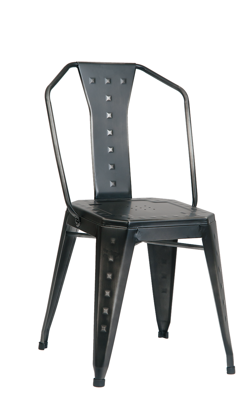Indoor Steel Chair in Distressed Finish, ERF-325