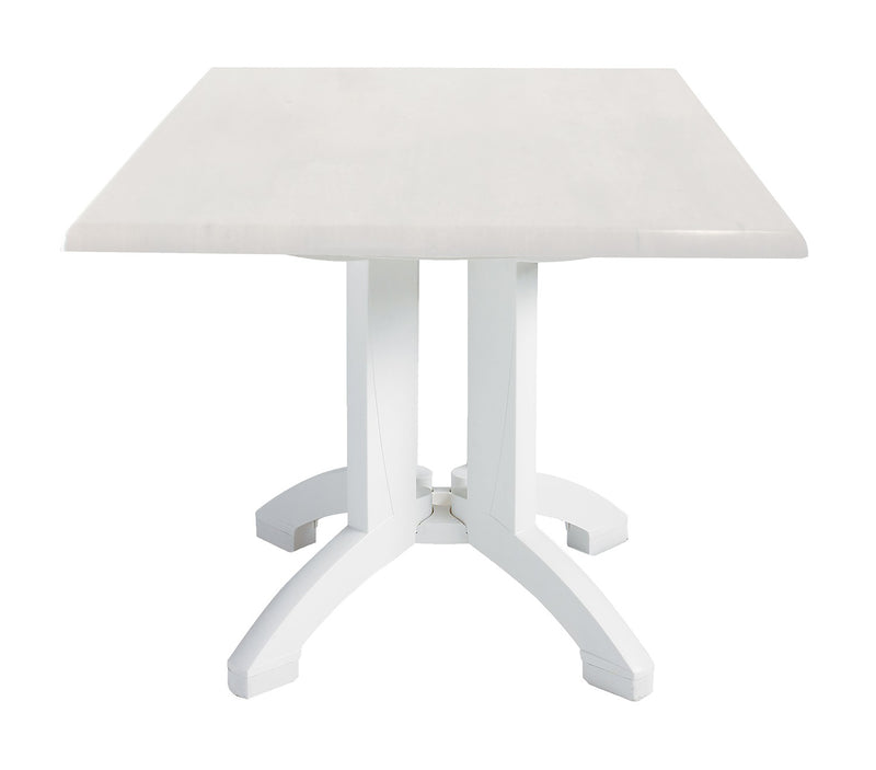 Atlanta Square Outdoor Table w/ 4-Prong Pedestal Base