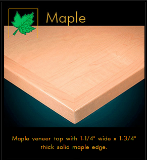 3420 Series Maple Veneer Table Top
