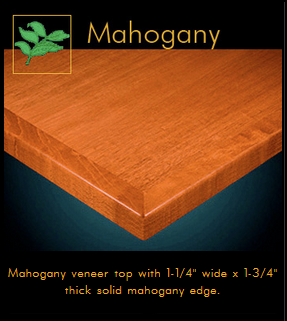 3440 Series Mahogany Veneer Table Top