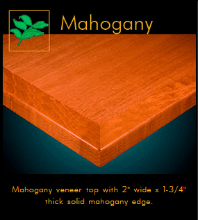 3442 Series Mahogany Veneer Table Top