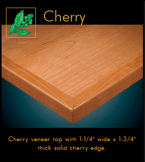3450 Series Cherry Veneer Table Top