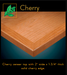 3452 Series Cherry Veneer Table Top
