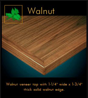 3480 Series Walnut Veneer Table Top