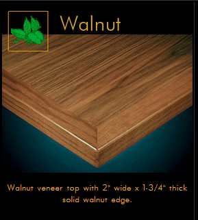 3482 Series Walnut Veneer Table Top