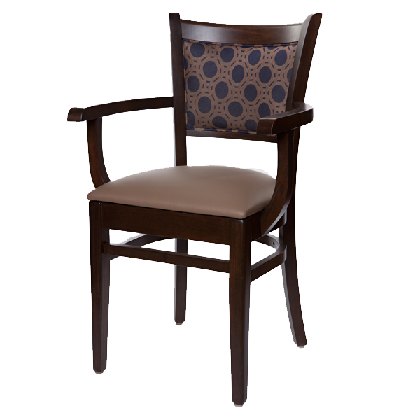 Classic Style Ellington Upholstered Back Arm Chair OD384UB
