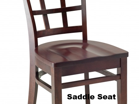 Vibe Beechwood Chair with Wood Back Side