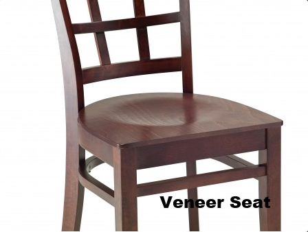 Vertical Beechwood Chair with Slat Back