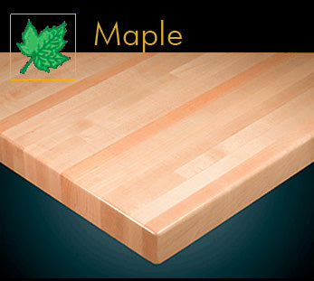 1260 Series Contemporary Maple Butcher Block Table Top