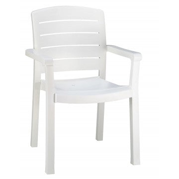 Acadia Classic Stacking Dining Armchair White
