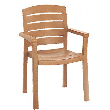 Acadia Classic Stacking Dining Armchair Teakwood