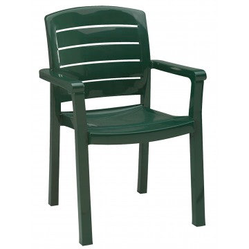 Acadia Classic Stacking Dining Armchair Green