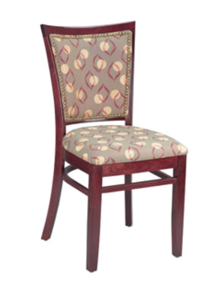 Checker Beechwood Chair with Exposed Grid Back