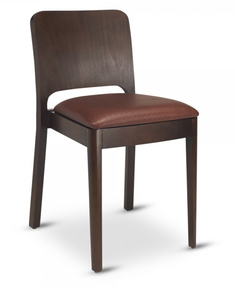 Milano Beechwood Stackable Chair with Wood Back