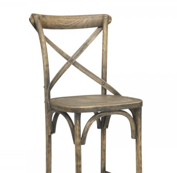 Gray Wash Finish Elm Bentwood Restauarnt Chair