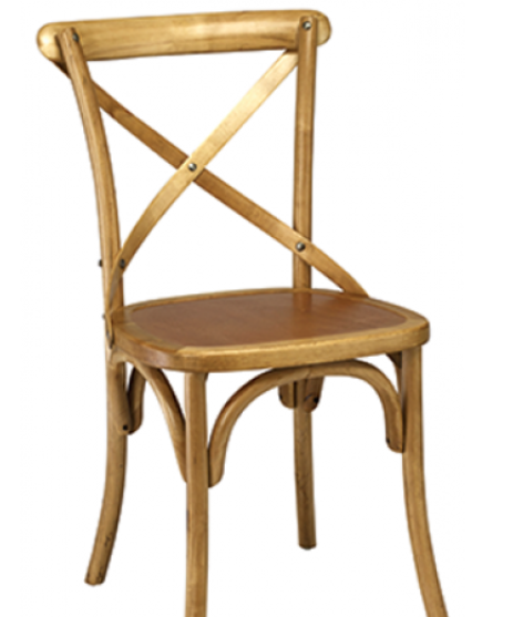 Rustic Natural Finish Elm Bentwood Restauarnt Chair