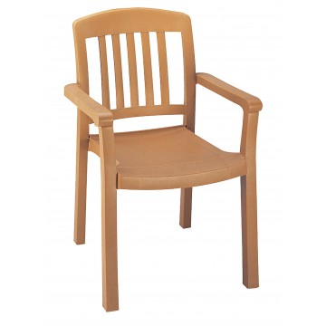 Atlantic Classic Slat Back Armchair Teakwood