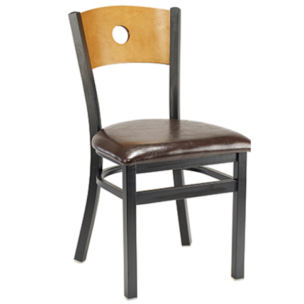 Bullseye Metal Side Chair w/ Veneer Back, GA514