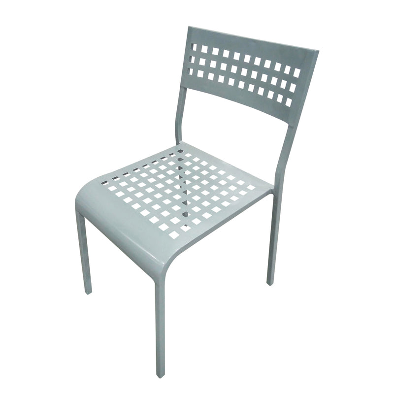 Grid Aluminum Side Chair