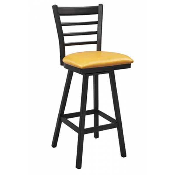 Dante Steel Swivel Barstool w/ Ladder Back, GA671