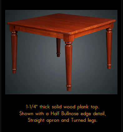 750ORFD Series Multi-Purpose Oak Solid Wood Table
