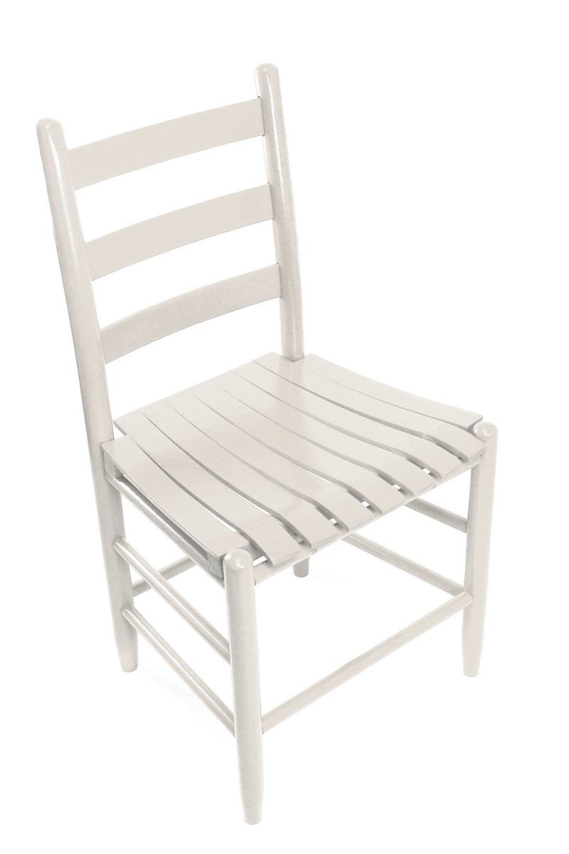 Antique White Boone chair w/ slat seat